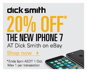 Dick Smith eBay 店:iPhone7 八折优惠!128GB版只要$982!32GB版只要$862!iPhone 7 Plus 32GB版 只要$999!