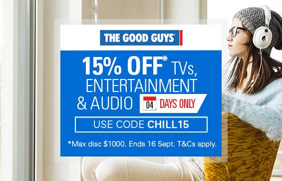 The Good Guys eBay店:电视、音响、家庭娱乐类商品 八五折优惠!