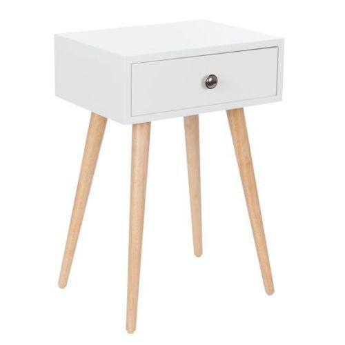 Zauni Jack 北欧风四腿床头桌 白色 现价$35.98!