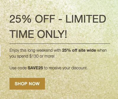 美容护肤网站Skincare Store:全场所有商品购物满$130 可享七五折优惠!