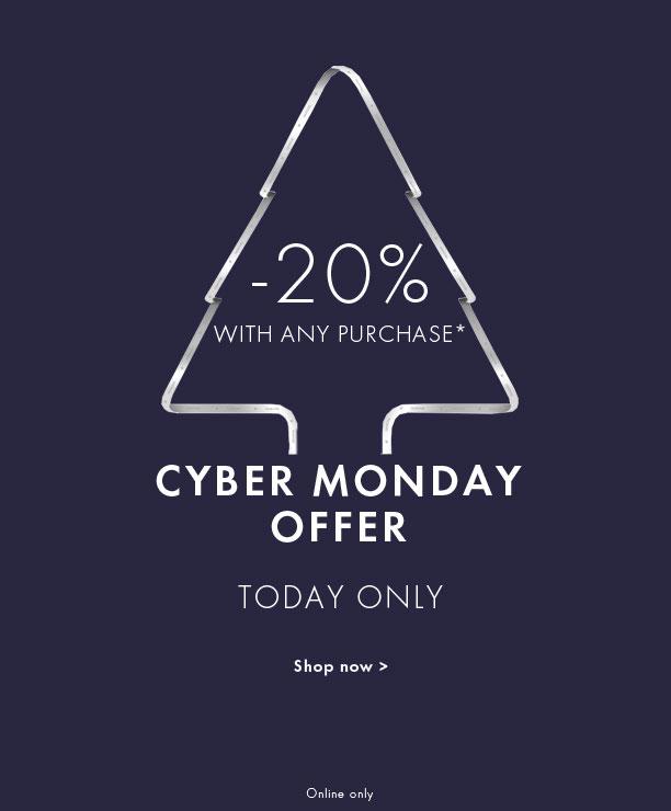 """Swarovski/施华洛世奇 澳洲官网 """"Cyber Monday""""活动:购买全场任意商品 均享8折优惠!"""