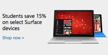 微软澳洲官网:学生购买 Surface 系列产品 可享八五折优惠!