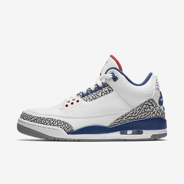 "Air Jordan 3 OG Retro ""True Blue"" 乔丹三代复刻版 现价$280!"