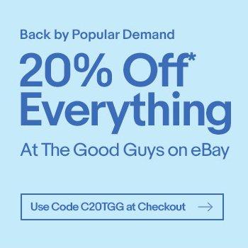 The Good Guys eBay店:全场所有商品 8折优惠!