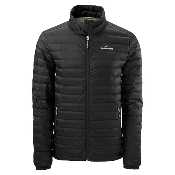 Kathmandu Heli 男士超轻短款鸭羽绒服 黑色 现价$129.98!