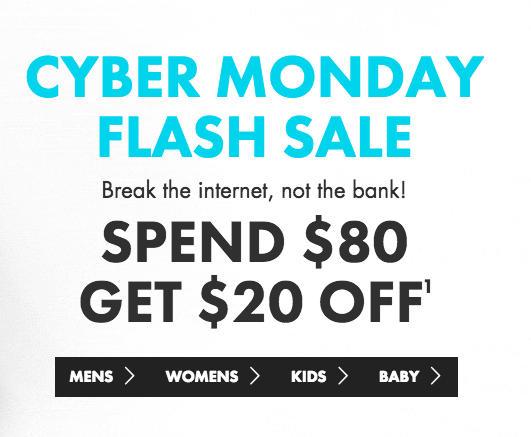 """内衣/服装品牌 Bonds """"剁手星期一"""" 活动:购物满$80 立减$20!"""