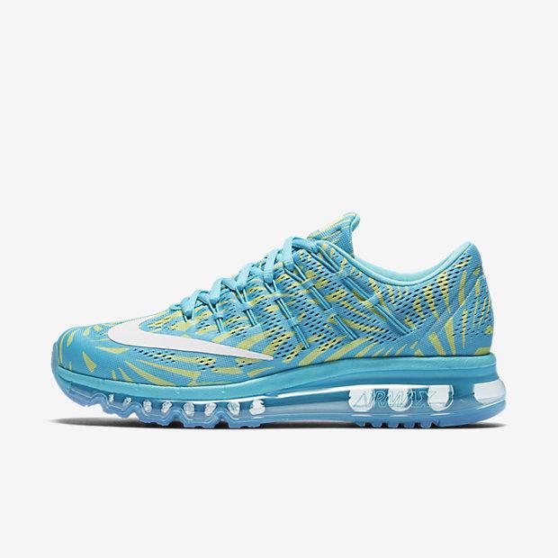 Nike Air Max 2016 Print 全掌气垫女子跑步鞋 伽马蓝色 现价$174.99!