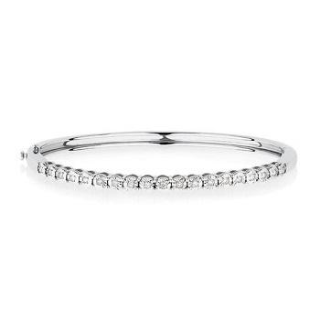 0.2克拉钻石 纯银手镯 现价$349!