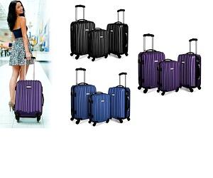 Milano/米兰 硬身行李箱三件套 带TSA海关密码锁 只要$149