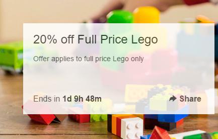 Target eBay 店:所有全价乐高玩具 8折优惠!