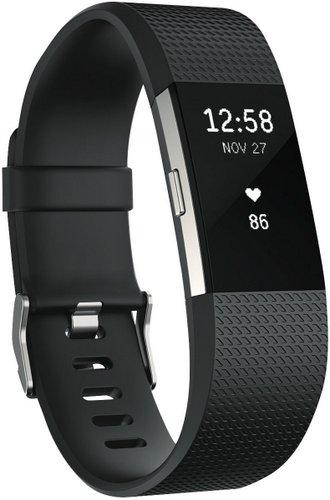 新款 Fitbit Charge 2 HR 智能时尚运动手环 – 黑色大号 折后$175!