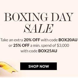 """奢侈品特卖网站 Reebonz """"Boxing Day""""活动:在低至4折的基础上 用码后可享额外8折/75折优惠!"""