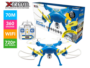 Xtreem 四轴高清无线航拍飞行器 黄/蓝色 现价$159!