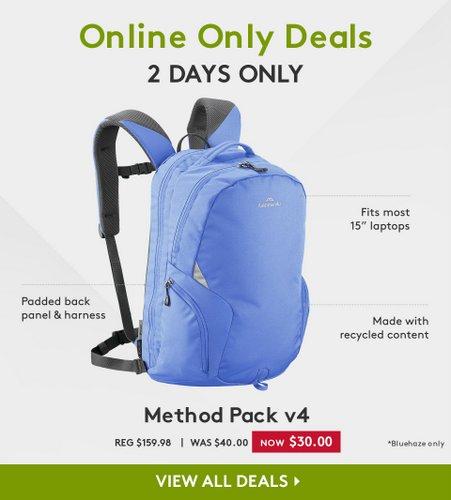 Kathmandu Method Pack v4 蓝色双肩包 现价只要$30!