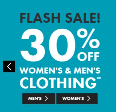 澳洲品牌 Bonds 所有男装、女装、内衣等商品7折优惠!