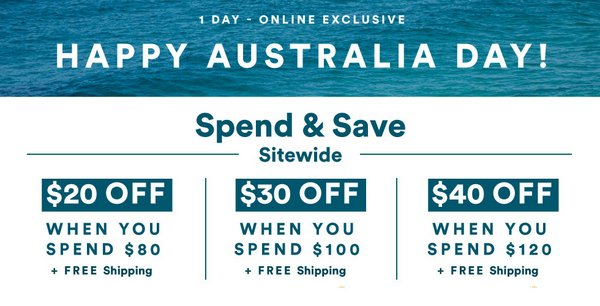 澳洲品牌 Cotton On 国庆节活动满减活动:最高立减40刀!