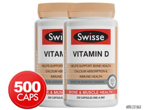 Swisse Ultiboost Vitamin D 250粒 2瓶装 只要$17.98!