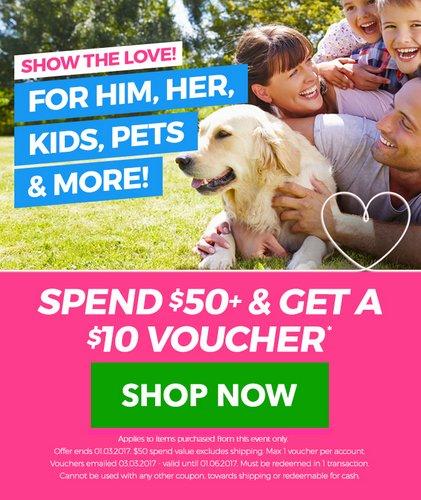 在特卖网站 Catch Of The Day 购物满$50 将获得10刀的代金券一张!