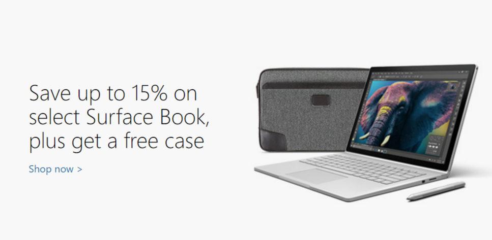 微软澳洲官网 部分Surface Book 及 Surface Pro 4 低至85折!并送内胆包一个!