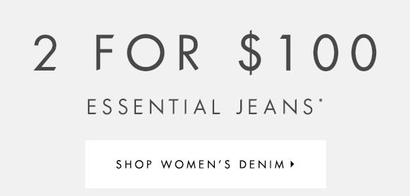 时尚品牌 Guess 男式女式牛仔裤2条只要100刀!