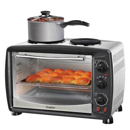 Ovation 便携式带2个加热板的电烤箱  现价$95!