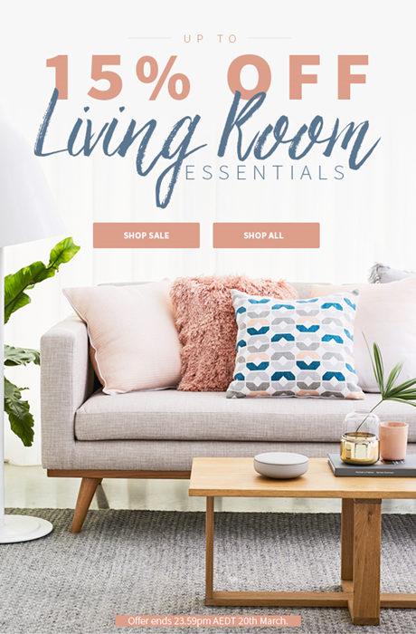 家具品牌 Zanui 客厅家具 85折优惠!
