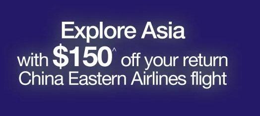 机票订购网站 Webjet 东航往返国内机票 现在购买立减150刀!