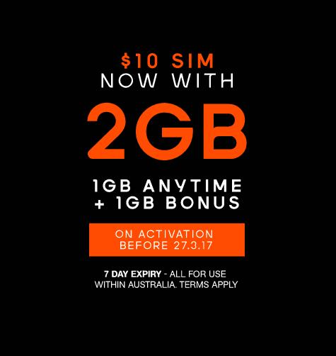 Boost Mobile 无合约 PrePaid 套餐:无限制拨打澳洲境内电话及2GB流量 只要10刀!