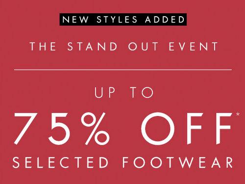 时尚品牌 Guess 部分精选特价鞋子 低至25折优惠!