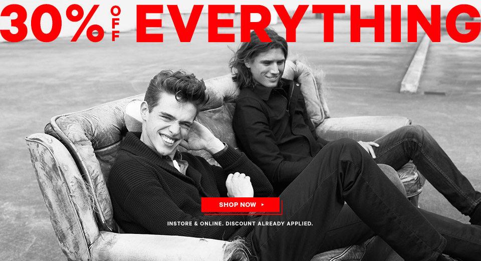 澳洲男装品牌 YD 全场所有商品额外7折优惠!