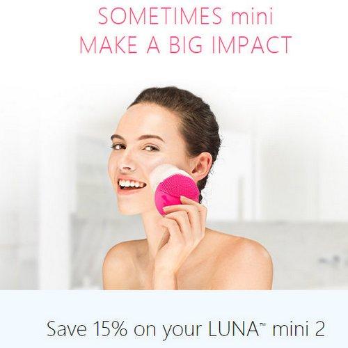 FOREO 官网:LUNA MINI 2代 电动洁面仪 – 多色可选 折后$152!