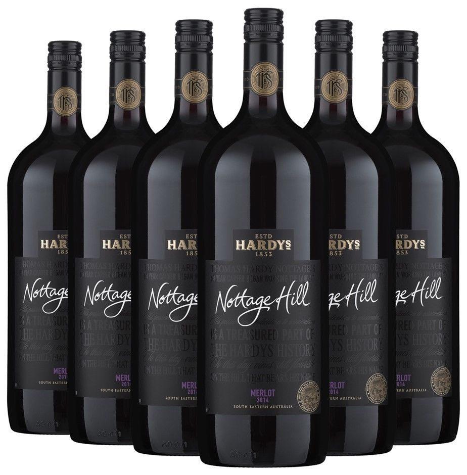 Hardy's Nottage Hill Merlot 红酒 1.5L装*6瓶 折后只要$38!