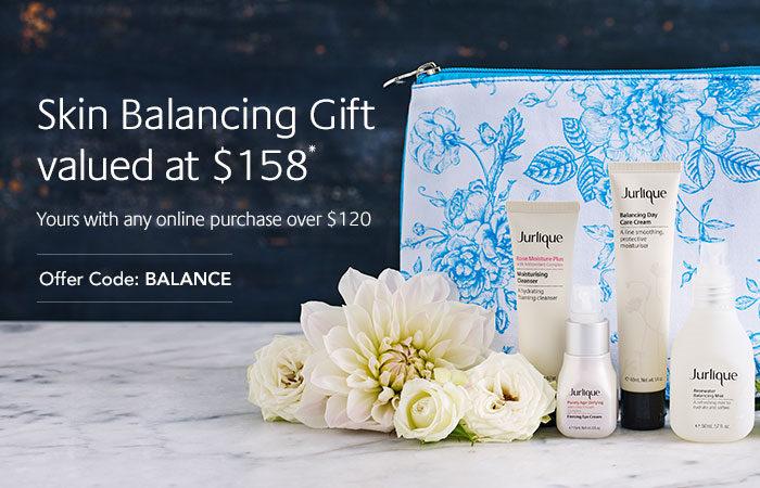 Jurlique/茱莉蔻 澳洲官网购物满$120 将获赠价值158刀的衡肤护理系列套装一份!