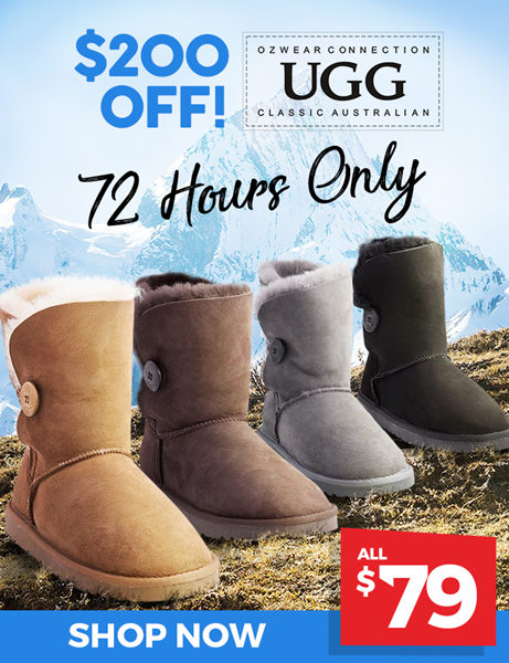 OZWEAR Button Uggs 现价只要$79!