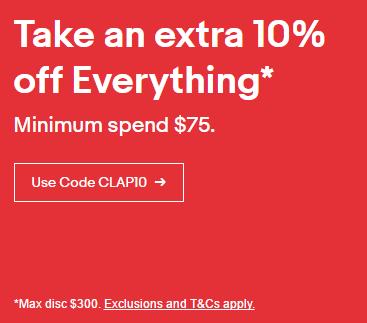 eBay 澳洲超级购物月活动:全场所有商品购物满 可享额外85折优惠!