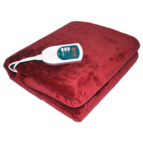 Lenoxx 可水洗电热羊毛毯 折后只要$44!