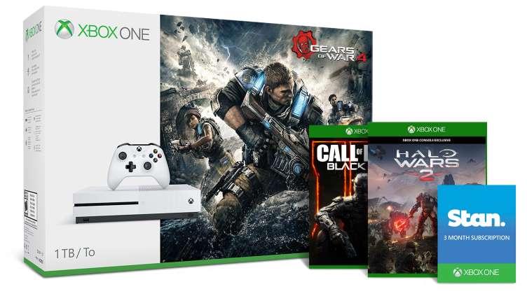 Xbox One S 1TB 主机 + 战争机器4 及额外两款免费游戏套装 现价只要$349!