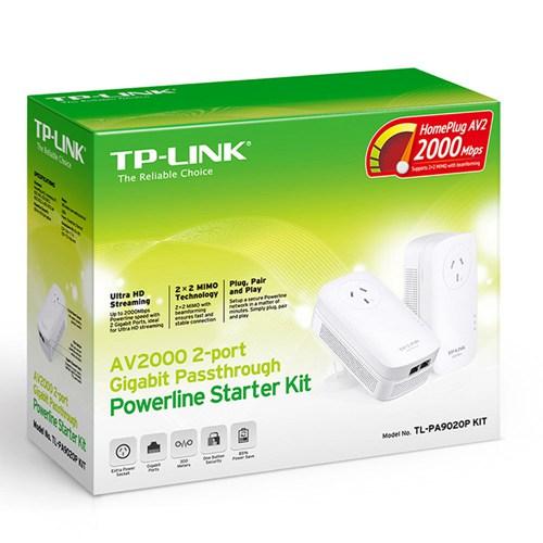 TP-Link TL-PA9020P KIT AV2000 2端口千兆直通电力猫一对装 现价只要$119!