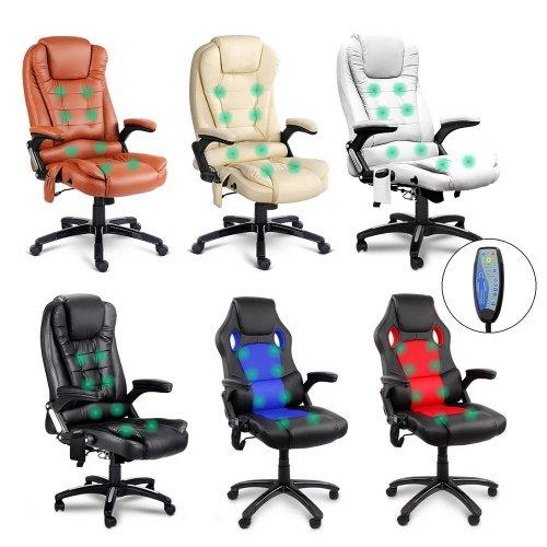 8点触控按摩办公椅 PU 皮革 多种颜色造型可选 低至3折优惠!