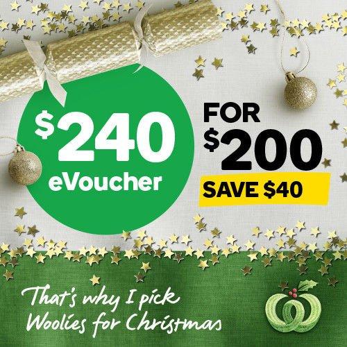 澳洲超市 Woolworths Online 代金券:170刀的售价$150!240刀的售价只要$200!350刀的售价$300!