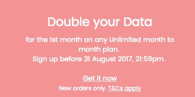 Vaya Mobile Unlimited 套餐:新用户注册首月流量翻倍!19刀套餐2GB变4GB!26刀套餐4GB变8GB!
