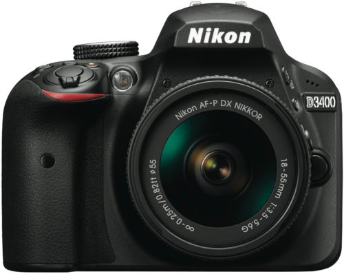 Nikon 尼康 D3400 单反相机套机(18-55mm)折后只要$396!