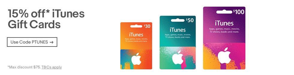 苹果 iTunes Gift Cards 充值卡额外85折优惠!
