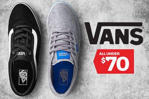 澳洲特卖网站 Catch 所有 Vans 品牌休闲鞋子均低于70刀!