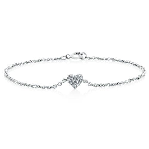 Michael Hill:心形钻石纯银手链