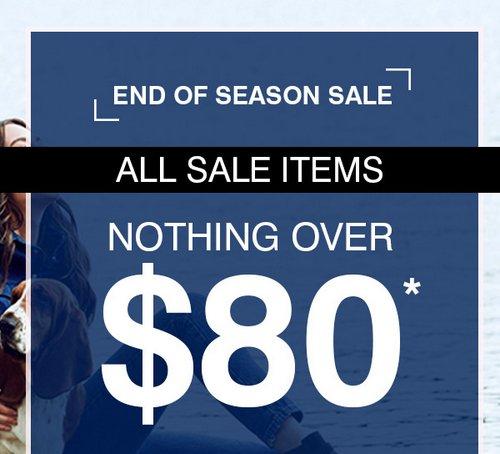 时尚品牌 Hush Puppies 季末活动:所有特价商品均低于80刀!