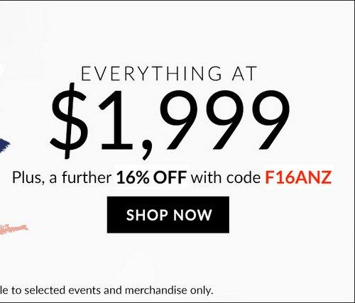 奢侈品特卖网站 Reebonz:Marni、Mark Cross、Miu Miu 等多个大品牌的包包一律只要$1999 每件!低至5折!用码后额外再减16%!