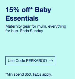 eBay 澳洲婴幼儿商品购物满$50 可享额外85折优惠!