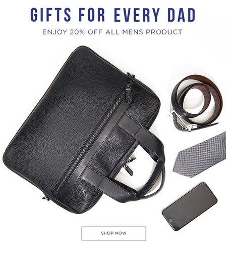 澳洲奢侈品牌 Oroton 父亲节活动:所有男士商品额外8折优惠!