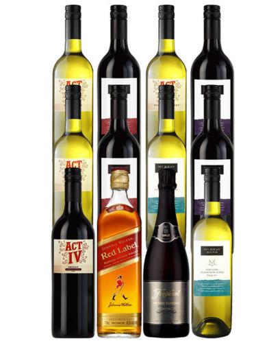 Johnnie Walker Red Label 威士忌以及其它多个品牌的红酒共12瓶 折后只要$91!